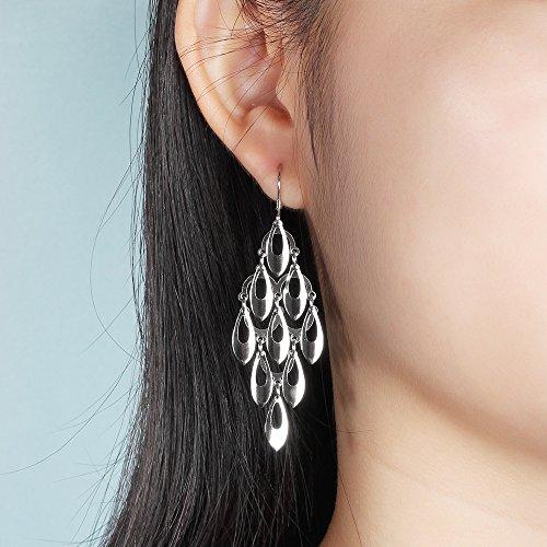 Kalapure Water Drop Tassel Earring, Sterling Silver Teardrop Dangle Earrings Best Gift for Women Mom by Kalapure (Image #1)
