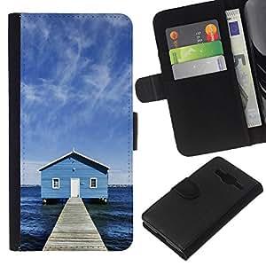 All Phone Most Case / Oferta Especial Cáscara Funda de cuero Monedero Cubierta de proteccion Caso / Wallet Case for Samsung Galaxy Core Prime // Lake Chalet