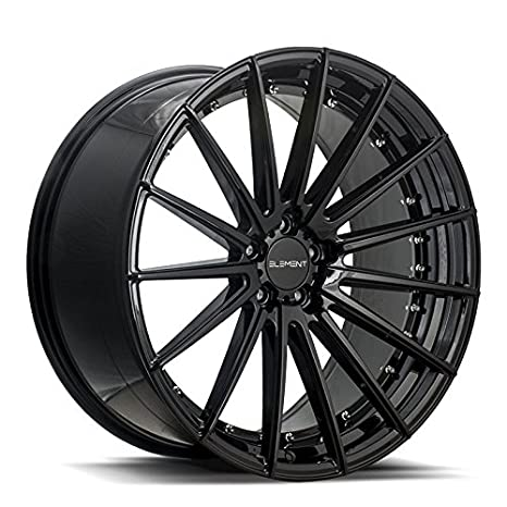 22 Inch Rim And Tire Package >> Amazon Com 22 Inch Element El15 Gloss Black Wheels Tire Package