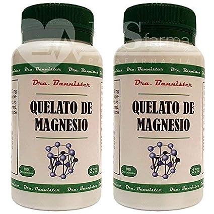 QUELATO DE MAGNESIO 800 mg. 2 x 100 comprimidos. Dra. BANNISTER