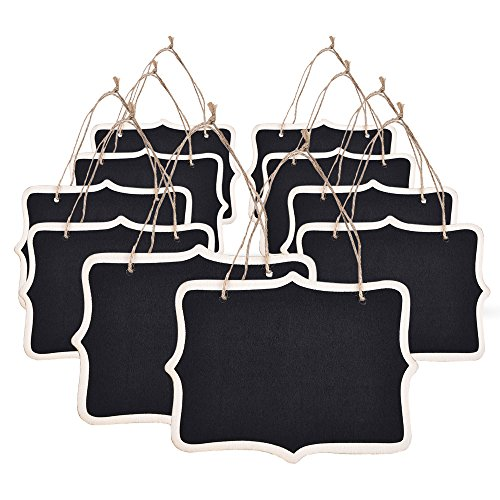 eBoot Mini Rectangle Chalkboard Label for Message Board Signs, Black, Set of 10 -