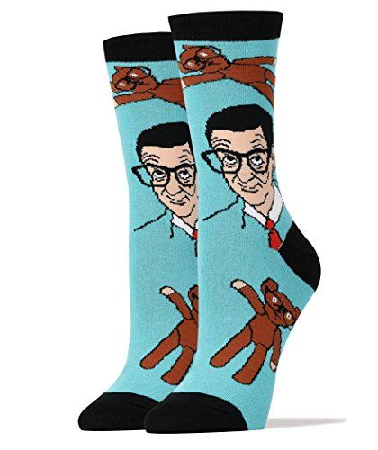 mbed Cotton Funny Novelty Crew Mr Bean Socks ()