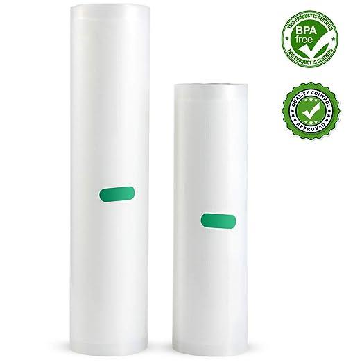 Rollos para Envasadora al Vacio - U ULTTY Bolsas de Vacio para Alimentos, 2 Rollos de 20x300cm y 28x300cm para Conservación y Cocción Sous Vide, ...