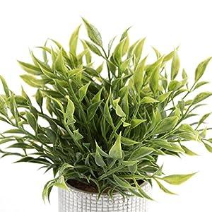 Cyrra 8 Inch high Bathroom Vanity Decor Ideas Indoor Artificial Grass Plants for Shelf Nandina 5