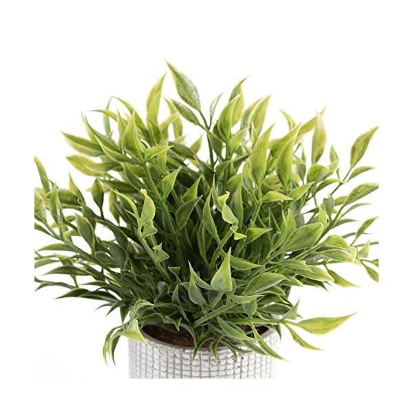 Cyrra-8-Inch-high-Bathroom-Vanity-Decor-Ideas-Indoor-Artificial-Grass-Plants-for-Shelf-Nandina