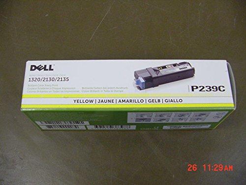 Dell Computer P239C Yellow Toner Cartridge 1320c/2135cn/2130cn Color Laser Printer - Dell 2135cn Color Printer