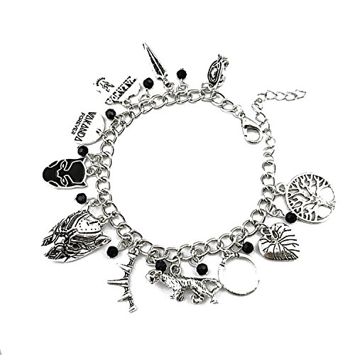 Panther Black Charm Bracelet - Wakanda Costume Jewelry Merchandise for Women -