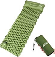 Yolife AirExpect Camping Sleeping Pad with Built-in Pump Upgraded Inflatable Camping Mat with Pillow for Backp