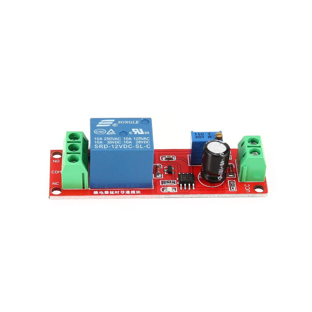 Baynne DC 12V NE555 Monostable Delay Relay Circuit Conduction Module Trigger Switch Timer Adjustable Time Shield Electronics Arduino by Baynne (Image #3)