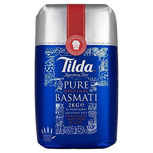Tilda Pure Basmati Rice (2Kg) - Pack of 2 by Tilda