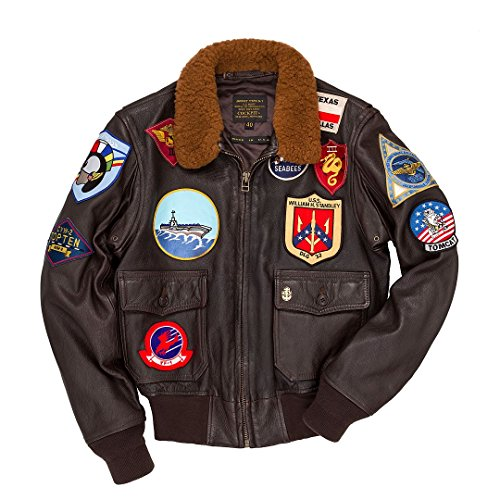 Navy Ex Usa En Made Gun Aviateur Cuir Avirex 1 Blouson Cockpit Tom In G Cruise Top 1X7gHwqSxn