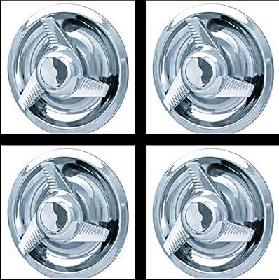 Amazon.com: 4PCS CHROME CHEVY GM Rally 3 Tri-Bar Spinner Wheel Center Hub Caps Rim trim Ring: Automotive