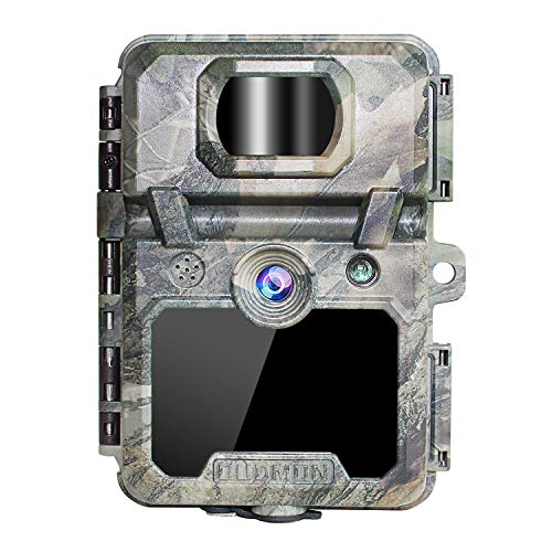 OUDMON Trail Game Camera 30MP 1080p 30fps FHD Waterproof IP67 Hunting Scouting Cam for Wildlife Monitoring with Night Vision Motion Activated No Glow IR LEDs 2.4″ LCD