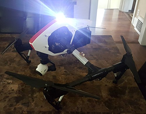 High Intensity Cree LED White Strobe Light for Drones FAA 107 Compliant for Night Flights Fits All Multirotor Quadcopter DJI Inspire Phantom Mavic RC Aircraft YuneecTyphoon H Q500