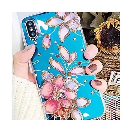 Retro Blu Ray Phone Case for X Pink Flamingo Soft Rose Flower Case for 6 6S 7 8 Plus Luxury Cover,4,for 6 6s Plus ()