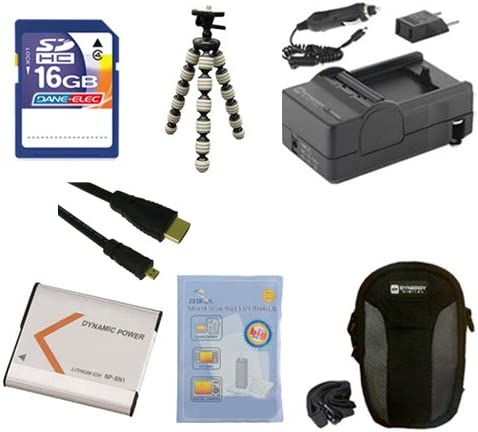 ZELCKSG Care /& Cleaning GP-10 Tripod HDMI6FMC AV /& HDMI Cable SD4//16GB Memory Card SDC-21 Case Sony Cyber-Shot DSC-WX220 Digital Camera Accessory Kit Includes: SDNPBN1 Battery SDM-1515 Charger