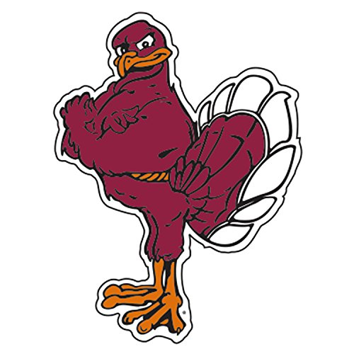 (Virginia Tech Decal WINE HOKIE BIRD DECAL 6