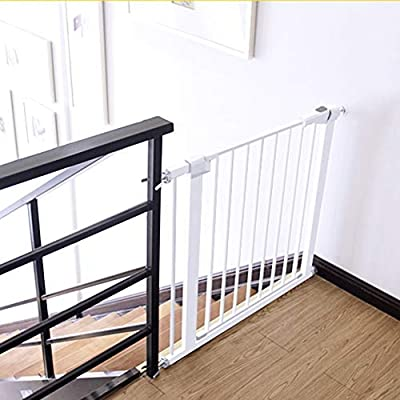 SuRose Puertas Extra Anchas para bebés Escaleras Puertas Metal Blanco Puerta para Mascotas Protector de Pared Puertas seguras 63-157cm Ancho (Tamaño: 85-92cm): Amazon.es: Deportes y aire libre