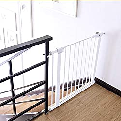 WANNA.U Narrow Baby Gate for Doors Extension Safety 1st Pressure Fit Retractable Pet Door for Stairs Indoor 63-137cm Wide (Size : 82-89cm)