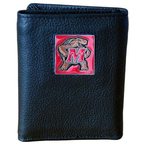 NCAA Maryland Terrapins Genuine Leather Tri-fold (Maryland Terrapins Ncaa Leather)