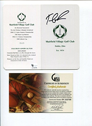 Tom Lehman Memorabilia - Tom Lehman British Open Golf Champ Signed Autograph The Memorial Scorecard COA - Autographed Golf Scorecards