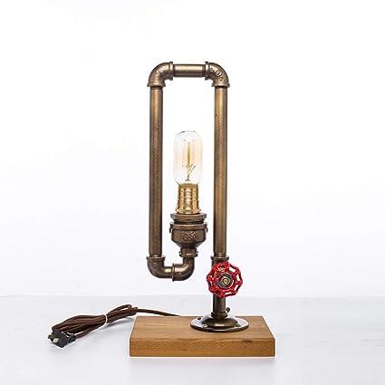 CCSUN Decoración Lámpara de mesa,Creativo Pipa de agua ...