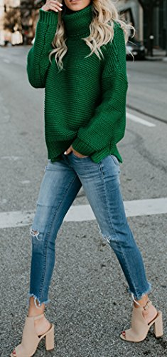Autunno Tops Pullover Unita Alto Sweater Cime Jumper Lunga Bluse Manica Casual E Moda Tinta Donna Maglione Maglieria Giovane Collo Inverno r1rqawBA