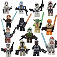 DESO® 14pcs/Set STAR WARS FIGURES compatible with Lego Brand Minifigures Star Wars Action Figure For Kids come with original box and character cards