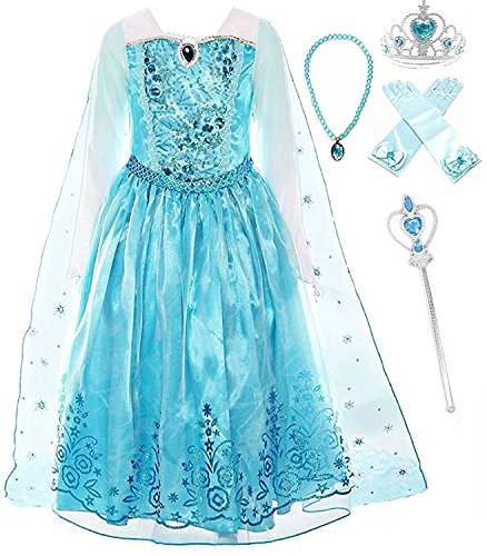 Romy's Collection Ice Queen Blue Party Princess Elsa Costume Dress-up Set, 3-4 by Romy's Collection