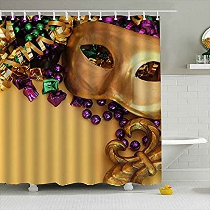 Image Unavailable Not Available For Color Lodiny Mardi Gras Shower Curtain