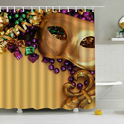 Amazon Lodiny Mardi Gras Shower Curtain Mildew Resistant Waterproof Polyester Fabric 150x180cm Home Kitchen