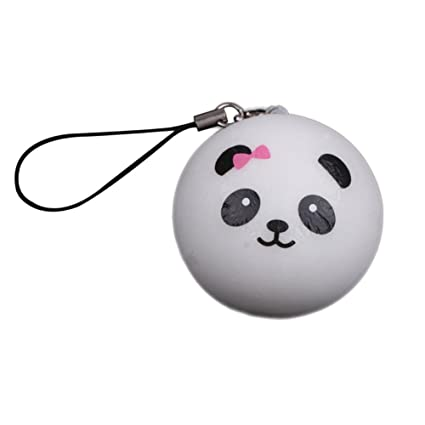 Cute Panda Cartoon Face Squishy Cell Phone Hang Rope Straps Charms by Cowra