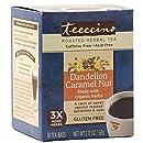 Teeccino Dandelion Caramel Nut Chicory Herbal Tea Bags, Gluten Free, Acid and Caffeine Free, 10 Count