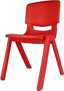 كرسي اطفال صغير بلاستيك، احمر
