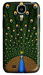 Brian114 Samsung Galaxy S4 Case, S4 Case - 3D Print Pattern Hard Cover for Samsung Galaxy S4 I9500 Painting Peacock Extremely Protective Case for Samsung Galaxy S4 I9500 by runtopwell