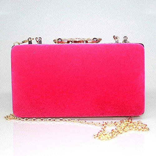 Diamante Clutch Womens Designer Crystal Bag Ladies Party Fashion Bag Red Handbag Evening Purse Bridal Wedding CwqpnFR