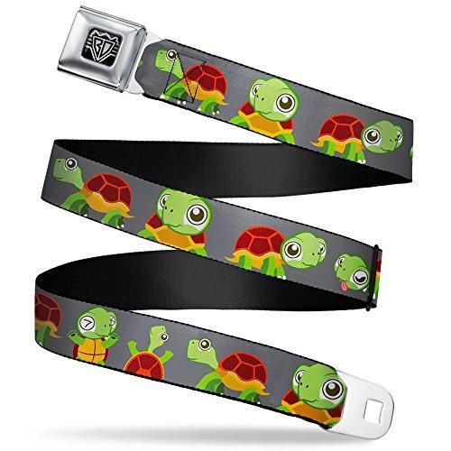 - Buckle-Down Seatbelt Belt - Turtle Cartoon Poses Gray - 1.0