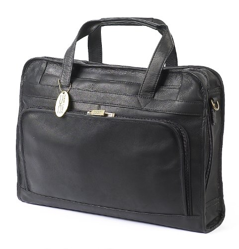 Claire Chase Professional Computer Briefcase, Black, One Size ()