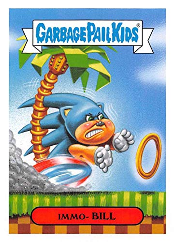 2019 Topps Garbage Pail Kids We Hate the '90s Video Games Stickers B #2 IMMO- BILL Peelable Collectible Trading Sticker Card (Sonic The Hedgehog)