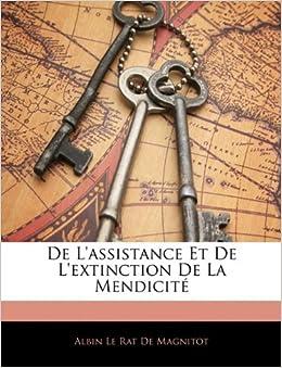 Book De L'assistance Et De L'extinction De La Mendicité