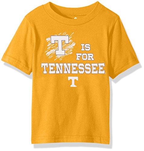 (Outerstuff NCAA Tennessee Volunteers Alphabet Team Short Sleeve Tee, Tennessee Orange, 3T)