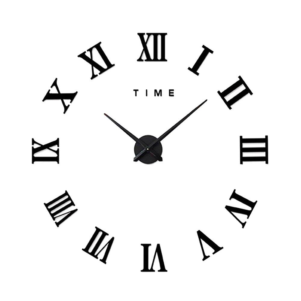 Amazon cideros large wall clock 3d acrylic mirror sticker amazon cideros large wall clock 3d acrylic mirror sticker roman numerals diy big watch with 80 120cm diameter modern creative design amipublicfo Images