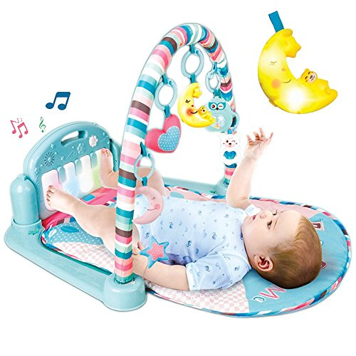 (Aroma Trees [Upgrade] Improve Baby Brain Develop Skill Learn and Play Musical Infant Activity Mat Kick Piano Light and Sound)