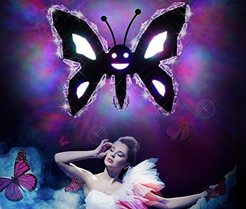 Crystal Led Patch Modern Remote Control Simple Wall Lamp Warm Bedside Lamp Bedroom Corridor Butterfly Living Room Wall Lamp (Diameter 20Mm, High 20Mm) by DMMSS