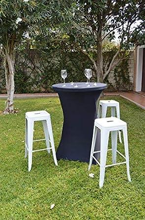 Mesa de cocktail para catering bodas y eventos Mesas altas de 80 de di/ámetro. Mesa alta redonda 80x110 cm de cocktail para celebraciones restaurantes y bares mesa elegante copa de bienvenida