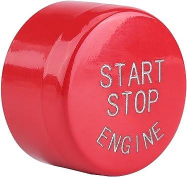 Keenso Start Stopp Knopf Für Automotoren Für F20 F21 F22 F23 F30 F31 F32 G30 F12 F13 F01 F02 X1 F48 X3 F25 Rot Auto