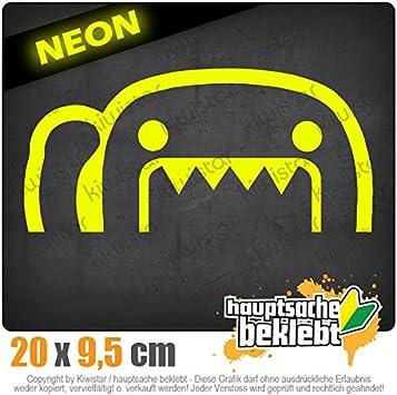 Kiwistar Halber Domo Kun 20 x 9,5 cm IN 15 Farben Neon Chrom Sticker Aufkleber