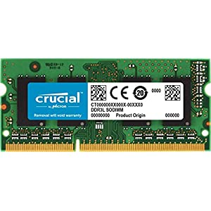 Crucial 8GB Single DDR3/DDR3L 1866 MT/s (PC3-14900) 204-Pin SODIMM RAM Upgrade for iMac (Retina 5K, 27-inch, Late 2015…