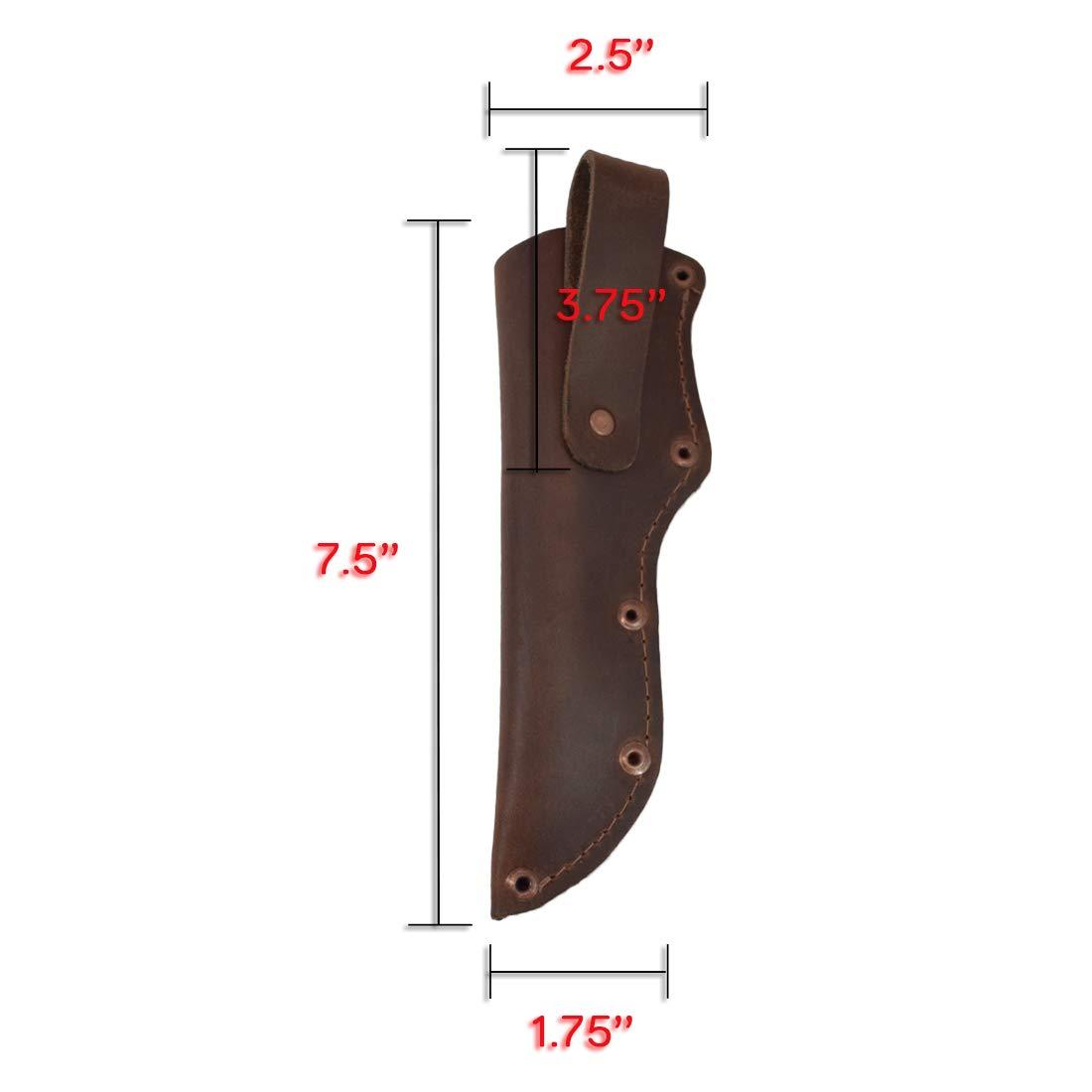 Amazon.com: Hide & Drink, cuchillo de piel gruesa con ...