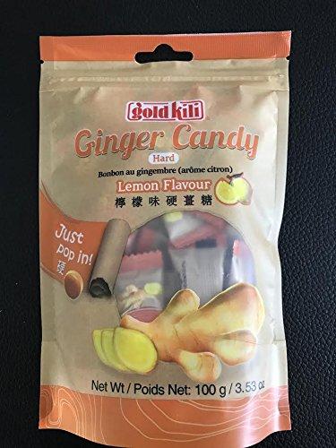Gild Kili Hard Ginger Candy 100G  3 53Oz  Pack Of 3  Lemon